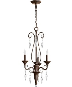 Quorum Vesta 3-Light Chandelier Oiled Bronze 6001386